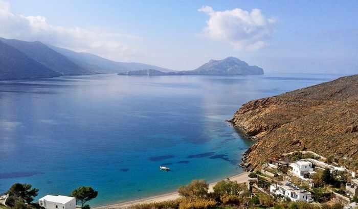 Aegiali Bay on Amorgos