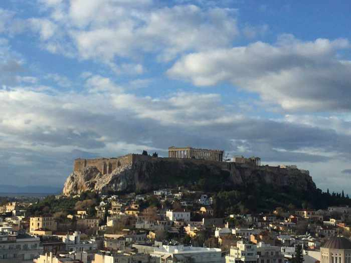 Acropolis in Athens on Jan 30 2016