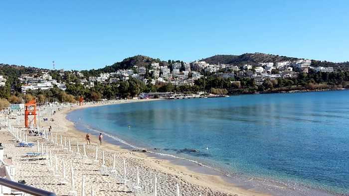 Athenian Riviera beach near Vouliagmeni