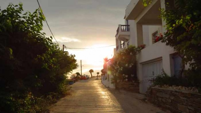 road at Stivari on Andros