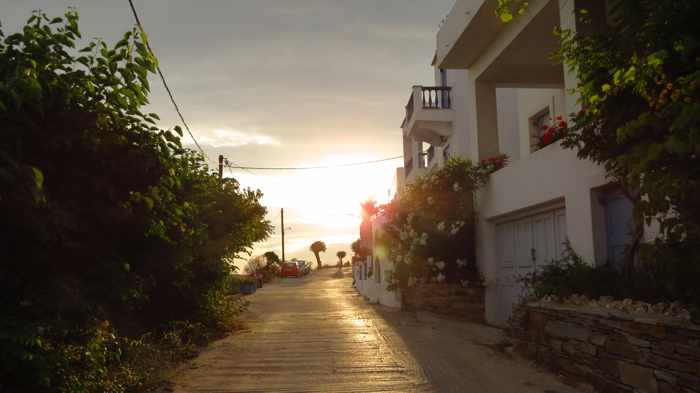 road at Stivari on Andros