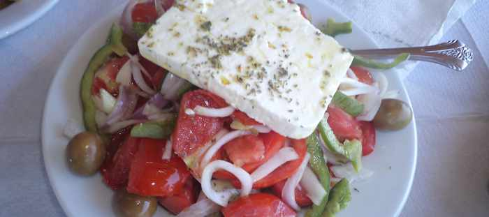 Greek salad at Mastrozannes Restaurant