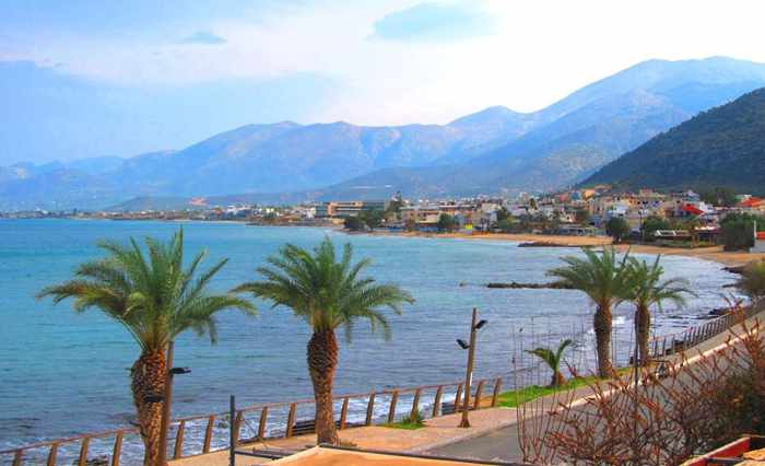 Palm promenade at Stalis Crete
