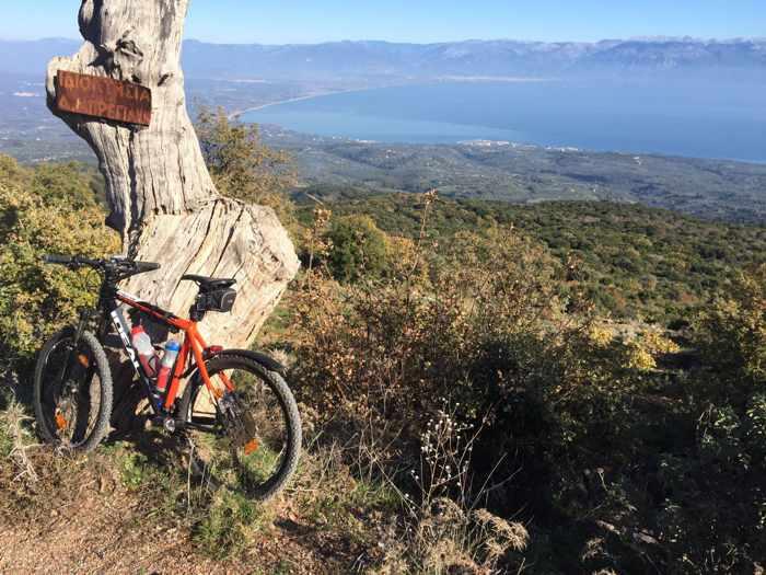 Messinian Bay viewed from a spot near Tripes