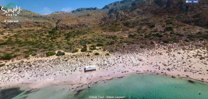 Screenshot of Simply Crete 360 degree virtual tour of Balos lagoon