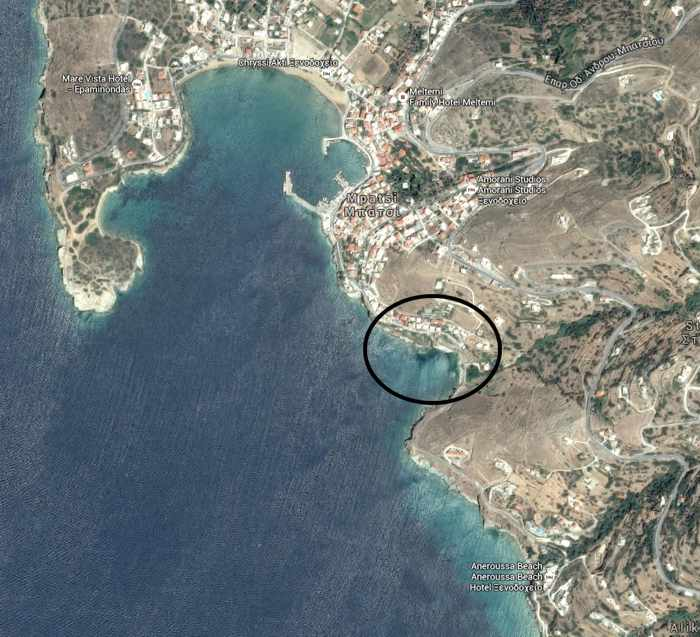 Stivari location on Andros island