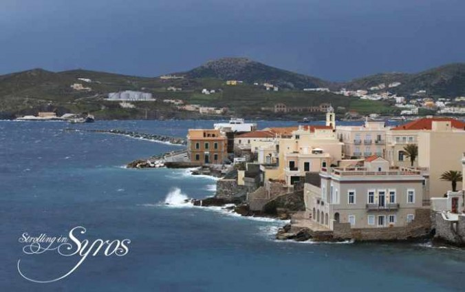 Strolling in Syros photo of Vaporia seaside
