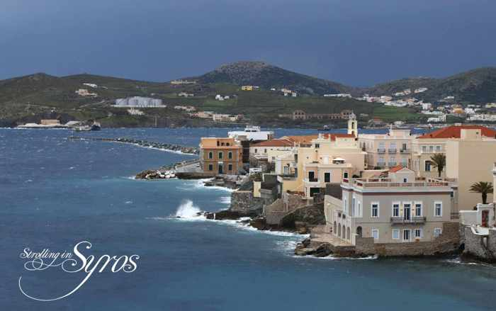 Strolling in Syros photo of Vaporia seaside