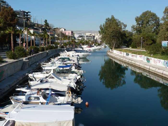 A marina at Pireaus area of Athens