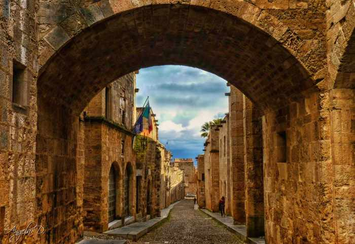 Angela D. Photos image of Street of the Knights in Rhodes