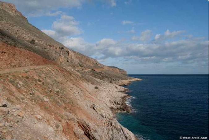 Balos beach road photo from west-crete.com