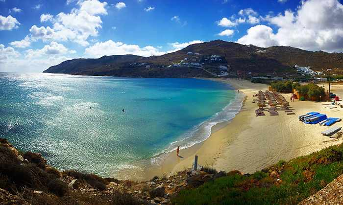 Kalo Livadi beach Mykonos photo by MykonosGuide.co
