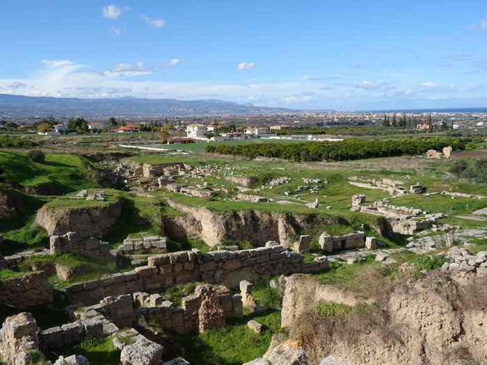 Sally Harper photo of ruins at Ancient Corinth
