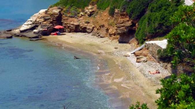 Agios Kiprianos beach on Andros