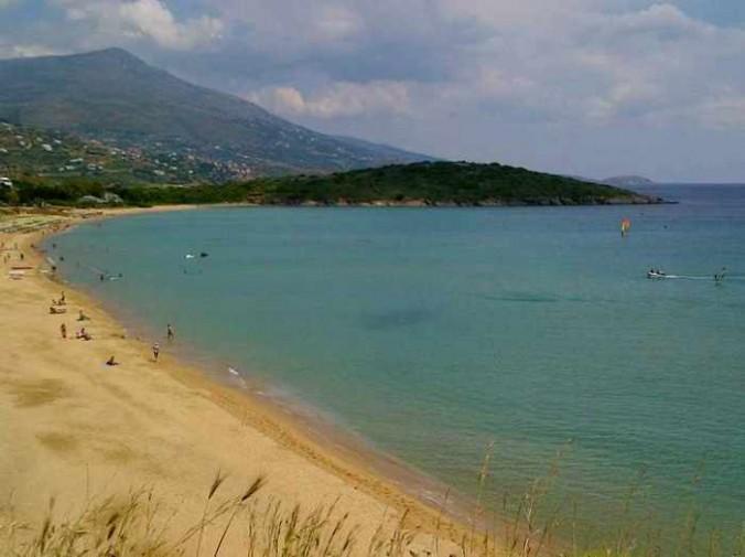 Agios Petros beach on Andros