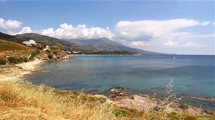 Andros island west coast