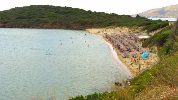 Chrisi Ammos beach on Andros