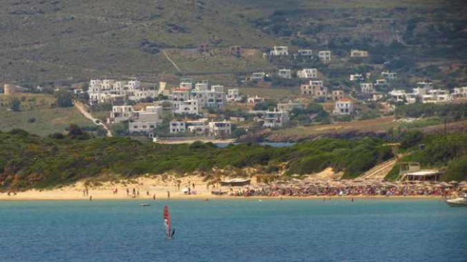 Chrissi Ammos beach on Andros