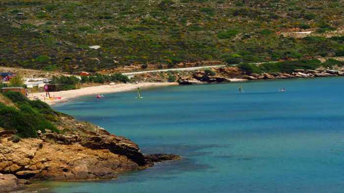 Kypri beach on Andros