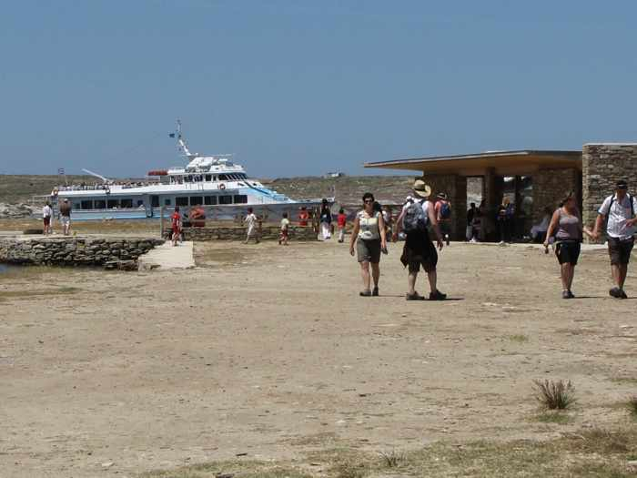 Delos Tours ferry the Orca at Delos island
