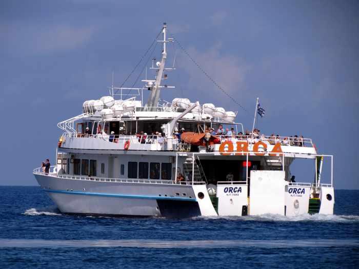 Delos ferry boat the Orca