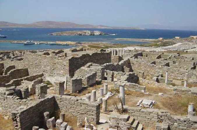 Mykonos Rib Cruising photo of ruins on Delos island