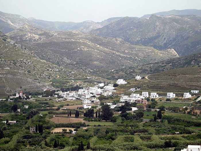 Eggares village on Naxos