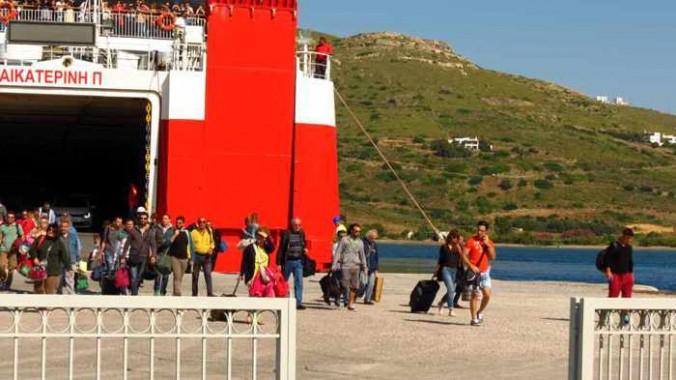 Ekaterini P ferry at Gavrio