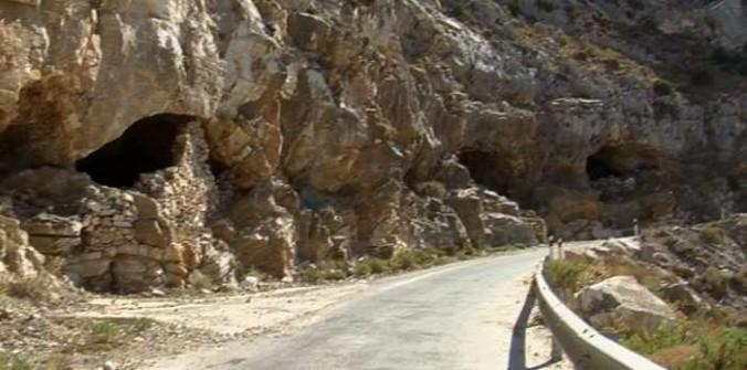 Naxos emery mine entrances