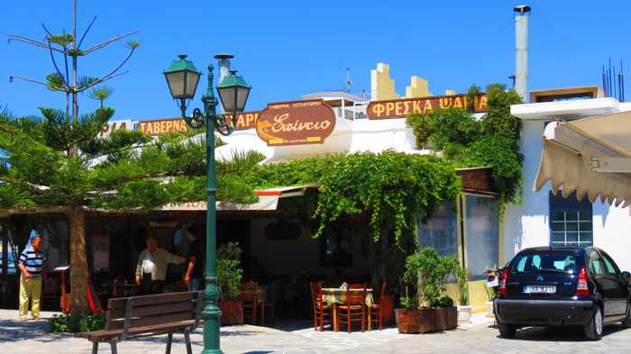 Epineio restaurant in Tinos