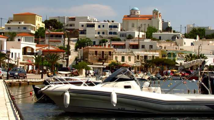 Gavrio harbourfront
