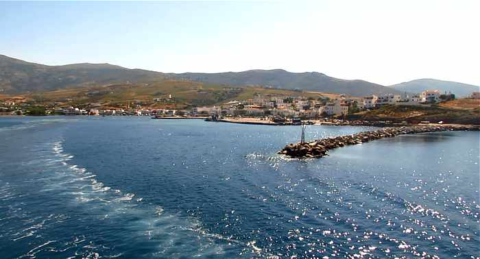 Gavrio Bay on Andros