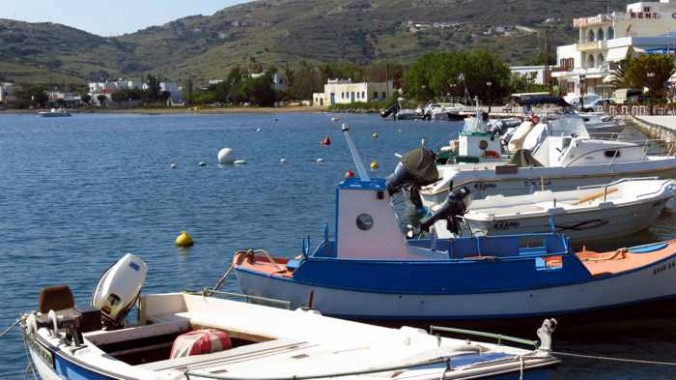 Gavrio harbour on Andros