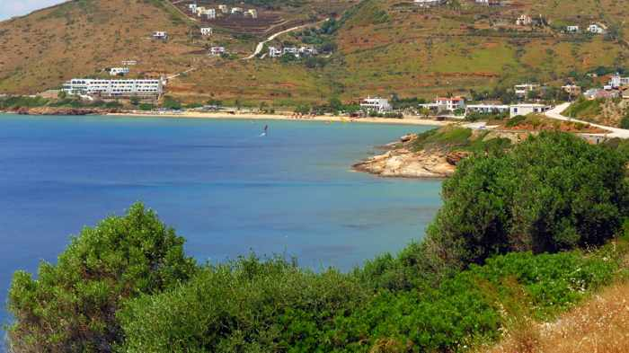 Kipri beach on Andros