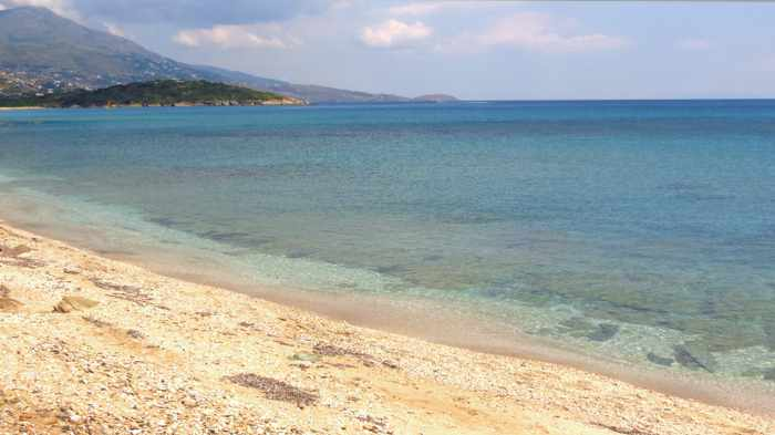 sea view from Liopessi beach Andros