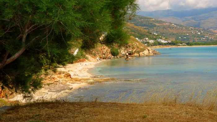 Liopessi beach on Andros