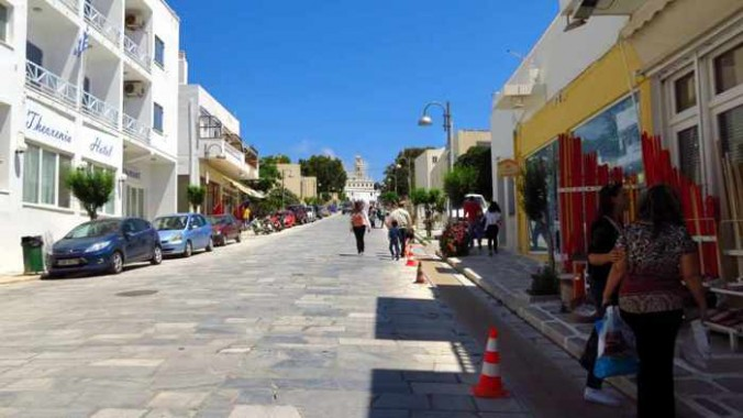 Megalocharis Street in Tinos
