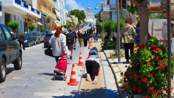 Megalocharis Street in Tinos Town