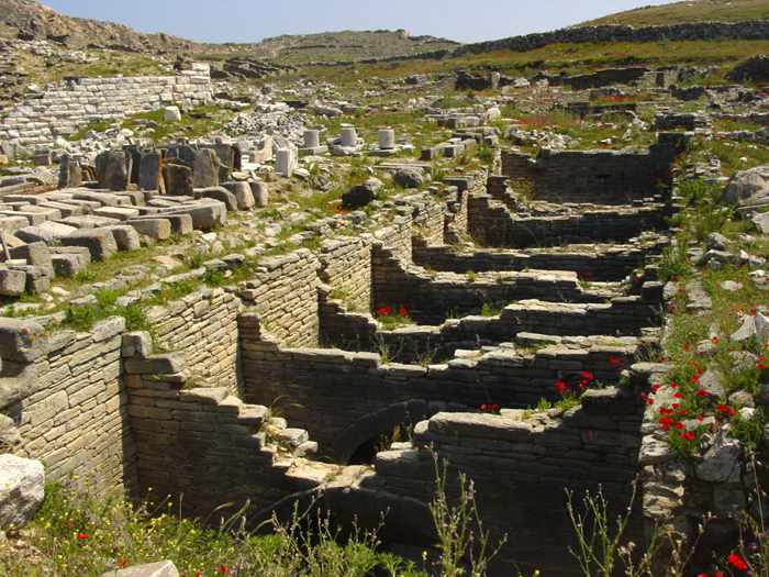 Delos ruins photo by Mykonos Tours