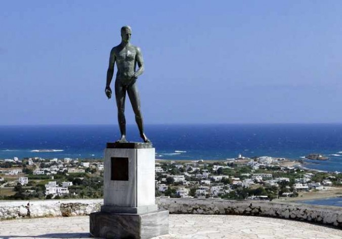 Rupert Brooke statue on Skyros