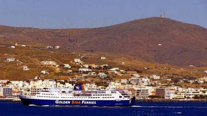 Superferry II arriving at Tinos