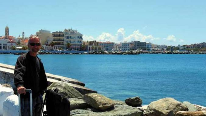 Donny B at Tinos port