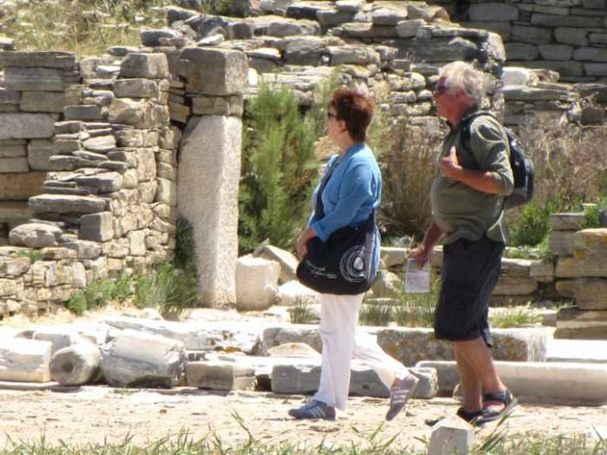 tourists on Delos