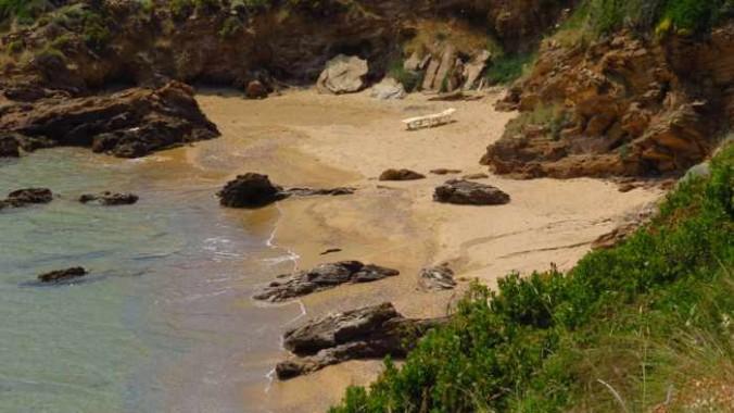 a cove near Kipri beach on Andros