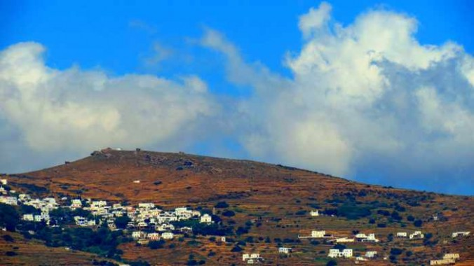 a mountain village on Tinos