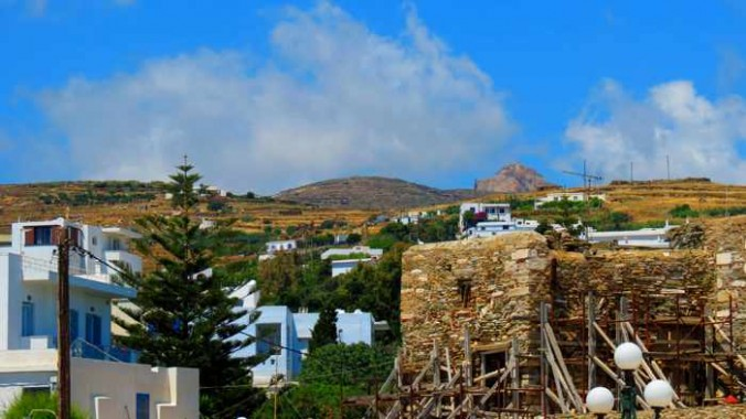 hills behind Tinos Town