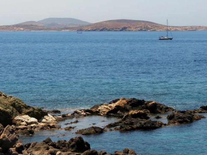 Mykonos view toward Delos