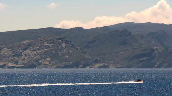speedboat near Tinos