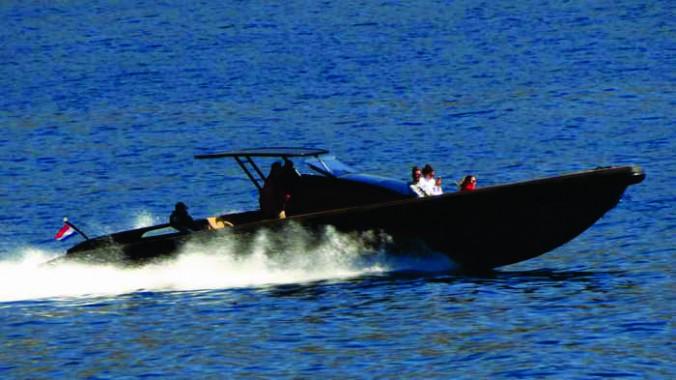 speedboat near Andros island