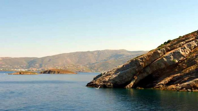 view toward Gavrio on Andros
